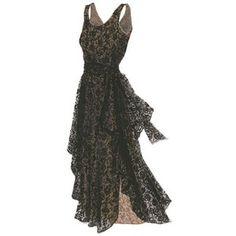 floral embroidered tulle dresses | 1950's Vintage Beige-Nude Black Embroidered-Floral Tulle-Chiffon ...