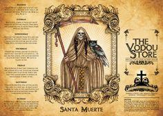 14-Day Candle Label - Santa Muerte (Bone)