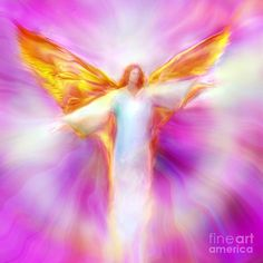 This is an Energy Painting of Archangel Sandalphon in Flight.  Archangel Sandalphon transforms the Primordial Sound into matter, creating the Music of the Spheres, He conducts the Heavenly Choir.  His painting exudes the energy of deep peace and harmony and will help to activate the connection to the Higher Self and to the Angelic Realms. It may be used to lift and clear the energy vibration wherever it is placed and to provide Spiritual Protection and amplify healing energies.