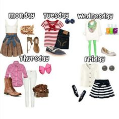 School Oufit for the week
