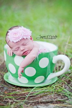 aww look at my baby girl <3 i just found these pics on etsy! awesomeness! :) lol Baby Girl Headbands..Baby Headbands..Newborn Headbands..Pink Double Shabby Rosette Headband..Photography Prop. $11.00, via Etsy.