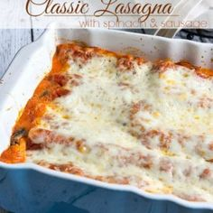 I'm sharing my favorite Classic Lasagna Recipe with you today! I love lasagna, and this easy recipe is prepared with the oven ready noodles so it's quick to throw together. I like to bulk up my la. Classic Pancake Recipe, Classic Lasagna Recipe, Pasta Dishes, Food Dishes, Main Dishes, Pasta Recipes, Dinner Recipes, Cooking Recipes, Italian Dishes