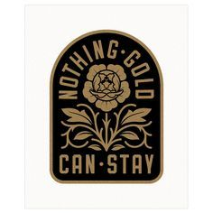 Vintage Graphic Design Nothing Gold Can Stay, Print — Hellcats USA Typography Logo, Typography Design, Branding Design, Logos Retro, Vintage Logos, Vintage Logo Design, Vintage Graphic, Nothing Gold Can Stay, Make Your Own Logo