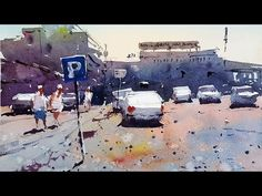 Can a Car Park make for an interesting painting ? A watercolour demo by Tim Wilmot #19 - YouTube