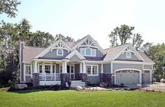 Craftsman With Multiple Garage Options - 23522JD   Bungalow, Craftsman, Northwest, Photo Gallery, 1st Floor Master Suite, Butler Walk-in Pantry, CAD Available, Den-Office-Library-Study, PDF   Architectural Designs