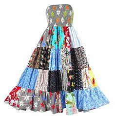 Bonya Women's 2 in 1 Bohemian Dress,Patchwork Swing Maxi Skirt - (Color148) Bonya Collections http://www.amazon.com/dp/B017TA4T4G/ref=cm_sw_r_pi_dp_7HKqwb1PAAAE1