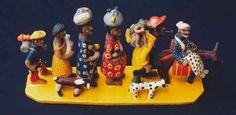 Retirantes - por varios mestres ceramistas de Caruaru