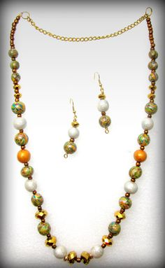Gold , Green and Pearl polymer clay