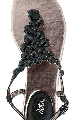 Scalloped Jeweled Sandal: Dots.com