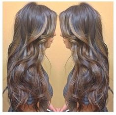 I want this hair! Chocolate brown with gold highlights.