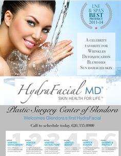We are now offering Glendora's first HydraFacial - call today to schedule a consultation!