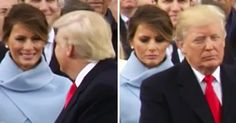 In case you missed it, we can't stop watching Melania Trump's face fall after interacting with her husband, President Donald Trump, at his inauguration — watch the funny, viral moment!