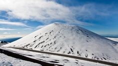 One of the several cinder cones at the top of Mauna Kea after our recent Winter storm. Peter Orelup