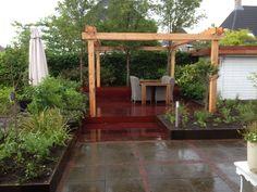 Tuinrenovatie te Hoofddorp. Pergola, Arch, Outdoor Structures, Garden, Longbow, Garten, Outdoor Pergola, Lawn And Garden, Gardens