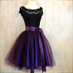 Womens aubergine tulle skirt lined in deep by TutusChicBoutique