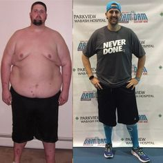 Inspiring men's before and after weight loss photo and story! #weightlossbeforeandafter