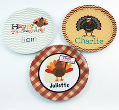 Here Are The Cutest Personalized Melamine Plates For Thanksgiving. Kids  Will Love These And Since