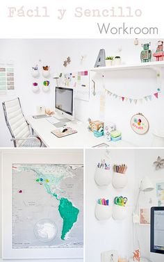 FacilySencillo WorkRoom. More photos in http://www.facilysencillo.es/2012/06/decor-mi-zona-de-trabajo-actualizada.html