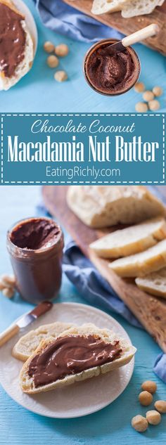This coconut chocolate macadamia nut butter is heaven in a jar. Just four ingredients & vegan, dairy free, & paleo. You will not believe how good it is! From http://EatingRichly.com (thank you Blendtec for sponsoring!)