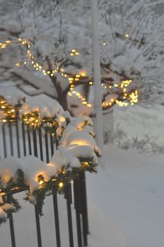 Winter lights winter wonder noel, kış ve kar. Christmas Scenes, Noel Christmas, Winter Christmas, All Things Christmas, Christmas Lights, Winter Snow, Christmas Houses, I Love Snow, I Love Winter