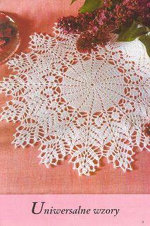مفرش كروشيه بالباترون   crochet doily pattern