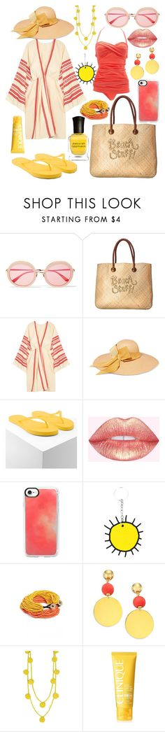 """""""Beach Day"""" by thegreendino ❤ liked on Polyvore featuring Sunday Somewhere, White Stuff, Celia Dragouni, Sensi Studio, Forever 21, Casetify, Christopher Kane, Ink + Alloy, Elizabeth and James and Humble Chic"""