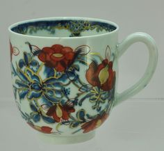 Antique 18th Century Worcester Hand Painted Floral Imari Coffee Cup 1770 Signed in Antiques, Decorative Arts, Ceramics & Porcelain | eBay