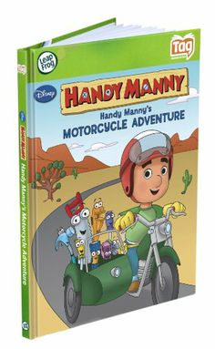 Amazon.com: LeapFrog Tag Activity Storybook Handy Manny's Motorcycle Adventure: Toys & Games