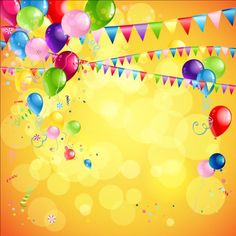 Bright holiday background with balloons, flag and confetti Place for text , Birthday Background Design, Kids Background, Background Design Vector, Birthday Design, Best Birthday Wishes, Happy Birthday Messages, Birthday Cards, Free Birthday Invitations, Free Vector Backgrounds
