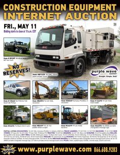 Construction Equipment Auction  May 11, 2012  http://purplewave.co/120511