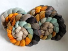 Merino Wool Roving - Hand Painted - Hand Dyed for Spinning or Felting - 4oz - Escape