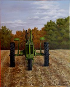 """The Old John Deere"" (oil on canvas)"