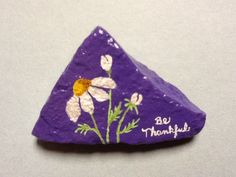 Painted rock by Phyllis Plassmeyer