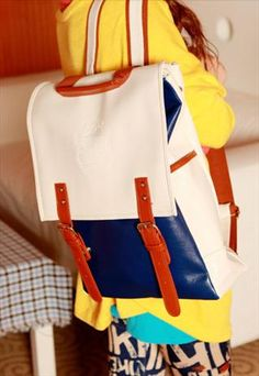 large  backpack with double  buckle