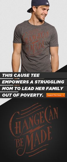 This men's #Sevenly #charcoal #graphic tee helps a mom provide the basic needs like food and shelter for her children. Join the solution here -> http://svnly.org/PinLink