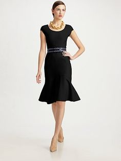 dream dress! Oscar de la Renta  Stretch Wool Dress