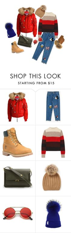 """""""Winter look"""" by agkamilla on Polyvore featuring мода, Dsquared2, Pull&Bear, Timberland, rag & bone, Marni, ZeroUV и FRR"""