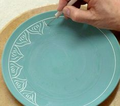 scratching-through-underglaze --- ideas for finishing clay organized by stages of drying #PotteryClasses