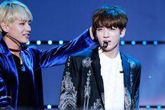 V and Jungkook! TAEKOOK! ❤ BTS at MCOUNTDOWN in Jeju #BTS #방탄소년단