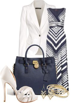 """Chevron Blue"" by happygirljlc on Polyvore"