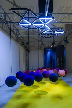 Playful Inter-Action installation: Visitors activate the interactions by touch.