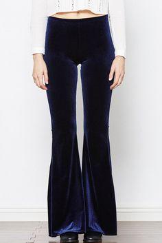 Velvet Crush Bell Bottom Pants