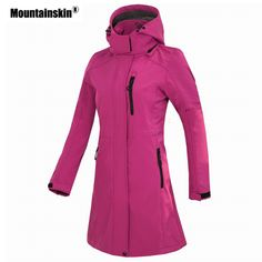 Long Jackets, Winter Jackets, Coats For Women, Jackets For Women, Hiking Jacket, Types Of Jackets, Outdoor Wear, Outdoor Outfit, Softshell