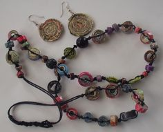 Newspaper/Magazine Necklace and Earings by TamiCycle, via Flickr