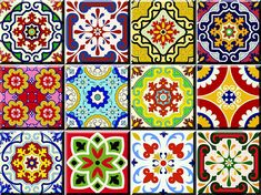 Set of 24 mixed tile square art decals Great item to decorate your bathroom, kitchen flat walls & windows *WHAT INCLUDE* Set of 24 mixed different traditional spanish retro tile decal square Apply this beautiful traditional tile sticker decal in any flat surface (walls, ceramic, windows,