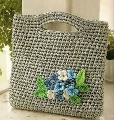 Easy crocheted bag graph pattern, chart