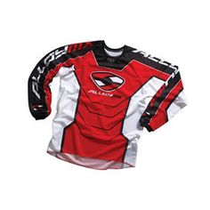 a alloy motocross mx jersey y camisa 05 reactor rojo blanco enduro mtb  bicicleta 16c21897118