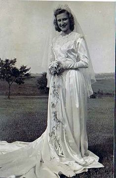 When Helene Gryzwinski was preparing to marry her sweetheart Chester in 1947, she bought the dress at Kauffman's department store in Pittsburgh. | This Wedding Dress Has Been Worn By Three Generations Of Brides