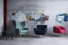Lænestole og skammel i grafitti omgivelser. Sofakompagniet | Dansk design - direkte til dig