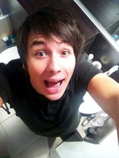 Dan Howell everyone! The one person that will take a selfie in a public bathroom.